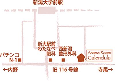 アロマルームカレンデュラ地図